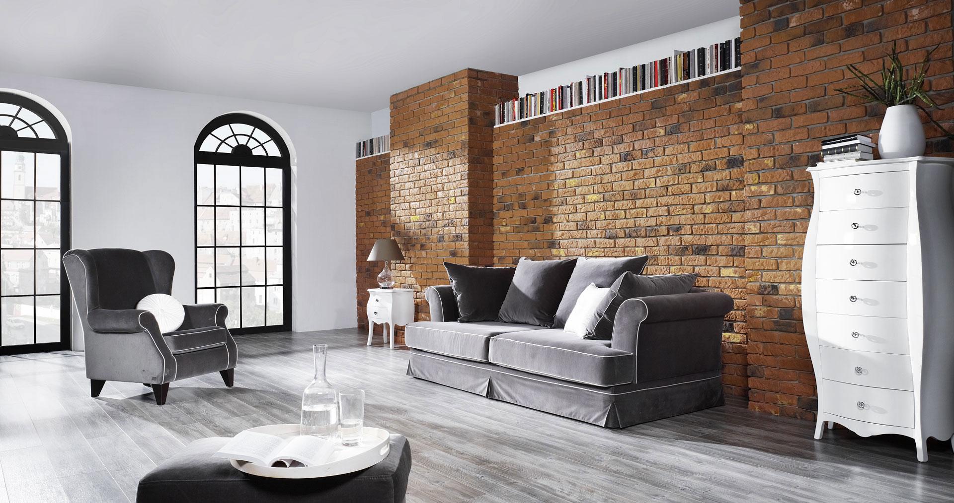 Loft brick amber kamie elewacyjny do wn trz stone master for W loft