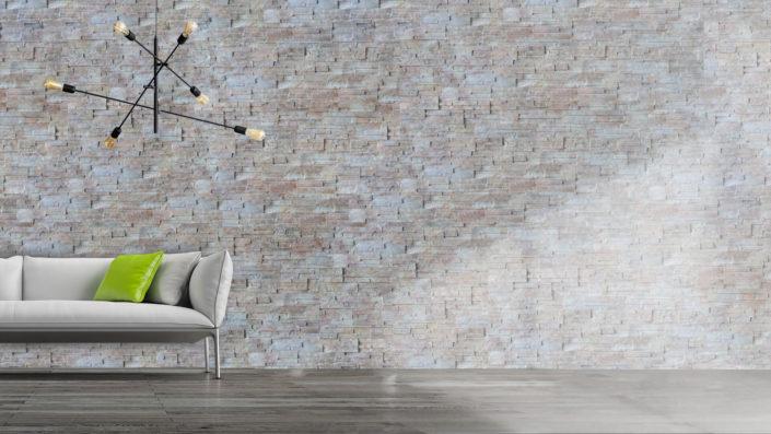BARI kamień dekoracyjny z kolekcji SUPREME LINE, produkowany w nowoczesnej i unikalnej technologii z zastosowaniem druku cyfrowego - aranżacja Stone Master
