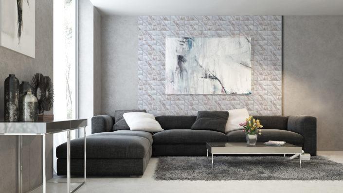 TOSCANIA kamień dekoracyjny z kolekcji SUPREME LINE, produkowany w nowoczesnej i unikalnej technologii z zastosowaniem druku cyfrowego - aranżacja Stone Master